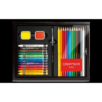 Сет за рисуване Multi-product wooden case
