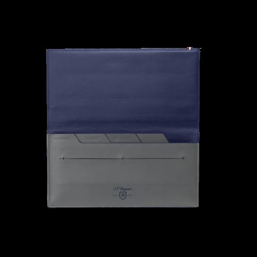Висок портфейл LINE D SLIM/LONG WALLET  GREY&BLUE