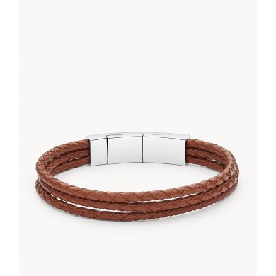 Мъжка гривна Vintage Casual Light Brown Multi-Strand Leather