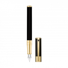 Писалка D-INITIAL FOUNTAIN PEN/BLACK&COLD