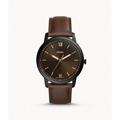 Minimalist Three-Hand Brown Leather