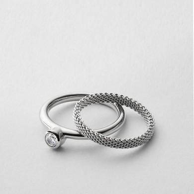 Дамски пръстен Elin Silver-Tone Crystal