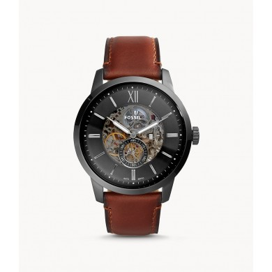 Townsman 48mm Automatic Amber Leather
