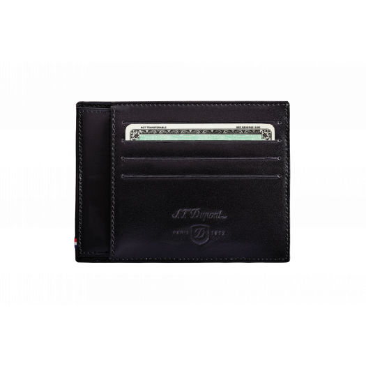 Калъф за карти LINE D / 4 CREDIT CARDS HOLDER WITH ID PAPER HOLDER BLACK
