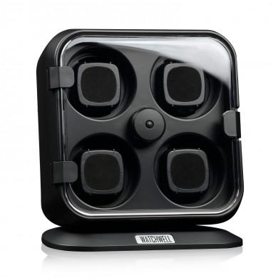 Кутия за навиване на часовници - Watch Winder Modena - Black / Blue LED